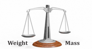 Difference Between mass vs weight